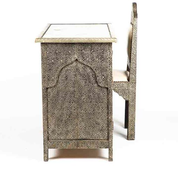 bureau artisanat marocain location chaise cote