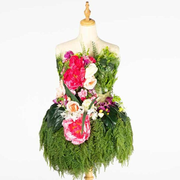 DE030 mannequin fleuri location vue zoom