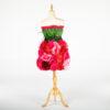 DE031 mannequin fleuri rouge location arriere