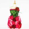 DE031 mannequin fleuri rouge location zoom