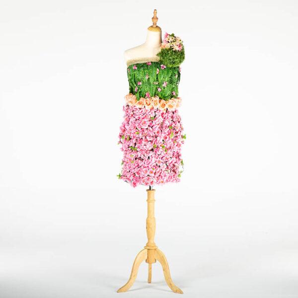 de032 mannequin fleuri rose location