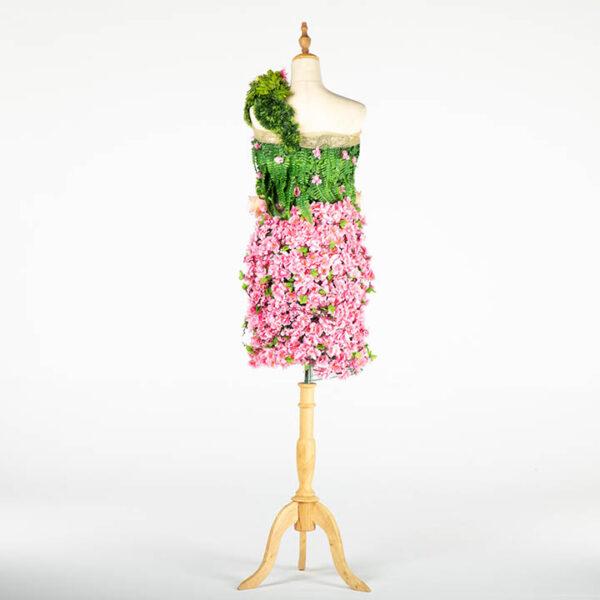 de032 mannequin fleuri rose location arriere