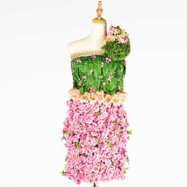 de032 mannequin fleuri rose location zoom