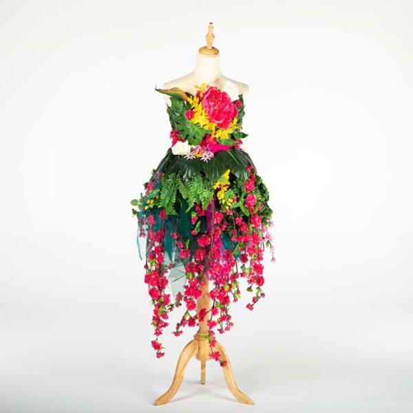 de033 mannequin fleuri bouquet location face