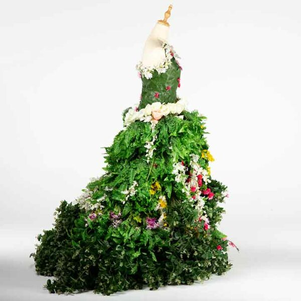 DE034 mannequin fleuri vert location cote design