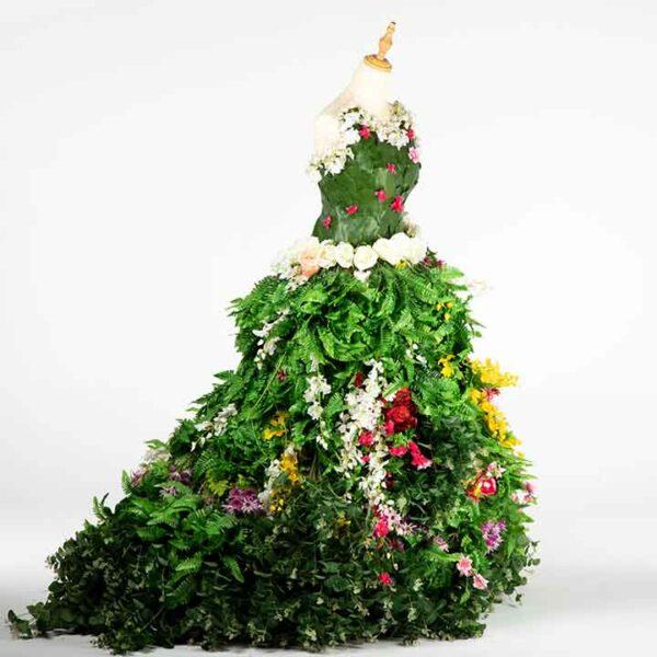 DE034 mannequin fleuri vert location cote design autre