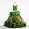 DE034 mannequin fleuri vert location face