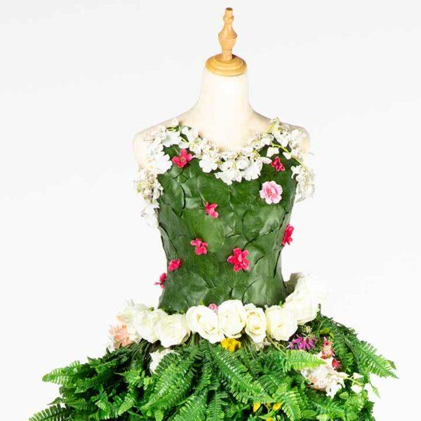 DE034 mannequin fleuri vert location zoom