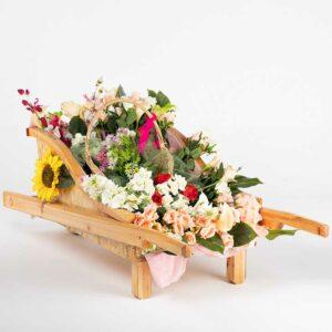 de036 charette fleurie