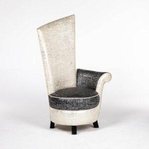 fauteuil haut dossier bicolore location
