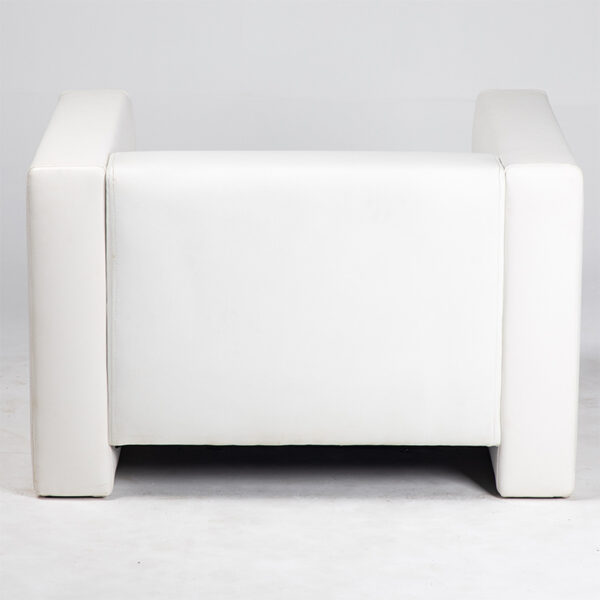 fauteuil simili cuir blanc arriere location