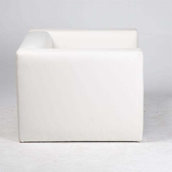 fauteuil simili cuir blanc cote location