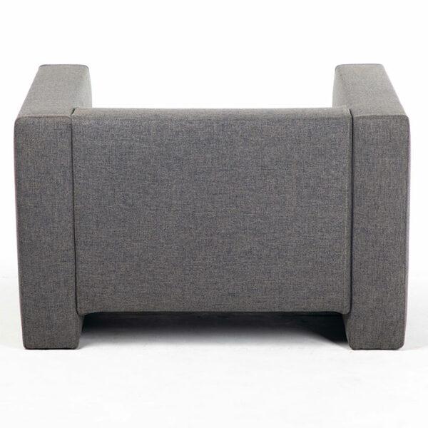fauteuil tissu gris arriere location