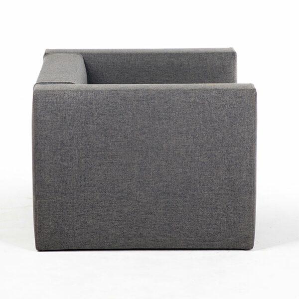 fauteuil tissu gris cote location
