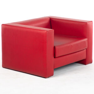fauteuil simili cuir rouge location