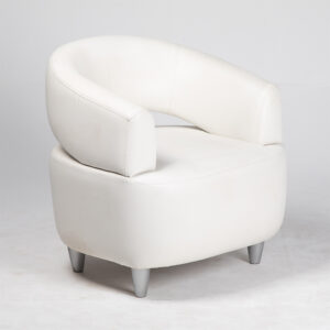 fauteuil relax tissu blanc location