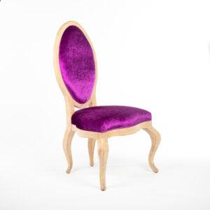 fauteuil precious tissu violet location