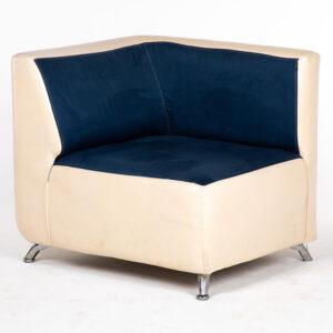 fauteuil bicolore blanc bleu location design