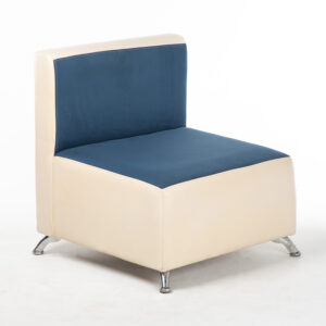 fauteuil bicolore bleu blanc location