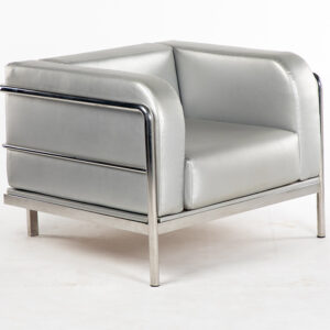 fauteuil mel simili cuir gris location