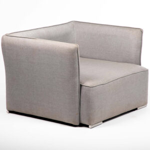fauteuil tissu gris location