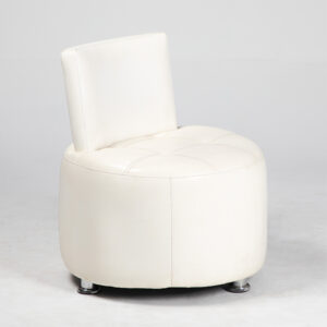 fauteuil simili cuir blanc location