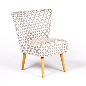 ft151gr fauteuil vintage motif coton gris bleu location