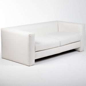 FT202BC Fauteuil 2 places simili cuir blanc location