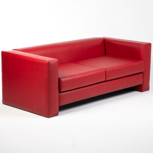fauteuil 2 places simili cuir rouge location