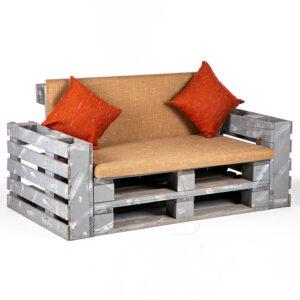 FT224BS fauteuil 2 places palette assise orange location 2