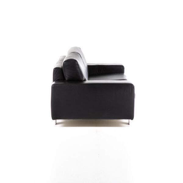 FT315 fauteuil 3 places cuir noir cote location