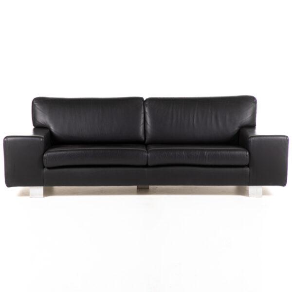 FT315 fauteuil 3 places cuir noir face location