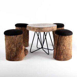 salon tronc d'arbre bois location