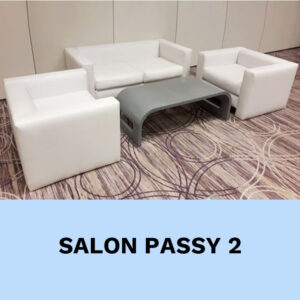 salon cuir blanc location