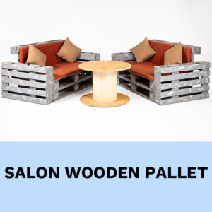 salon palette bois location