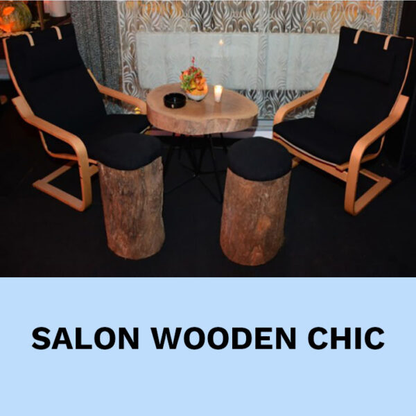 salon en bois location