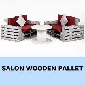 salon en palette bois location