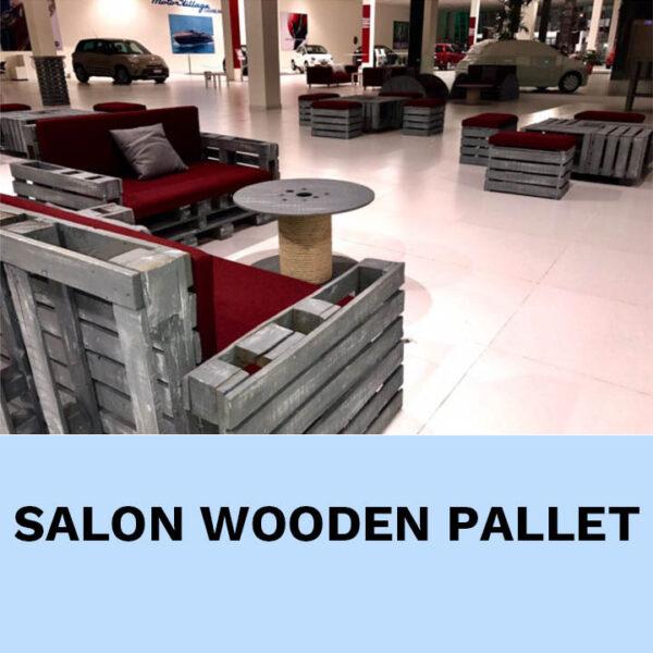 salon palette bois location