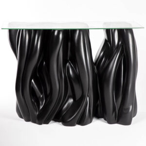 Table reunion buffet noire design haute location cote
