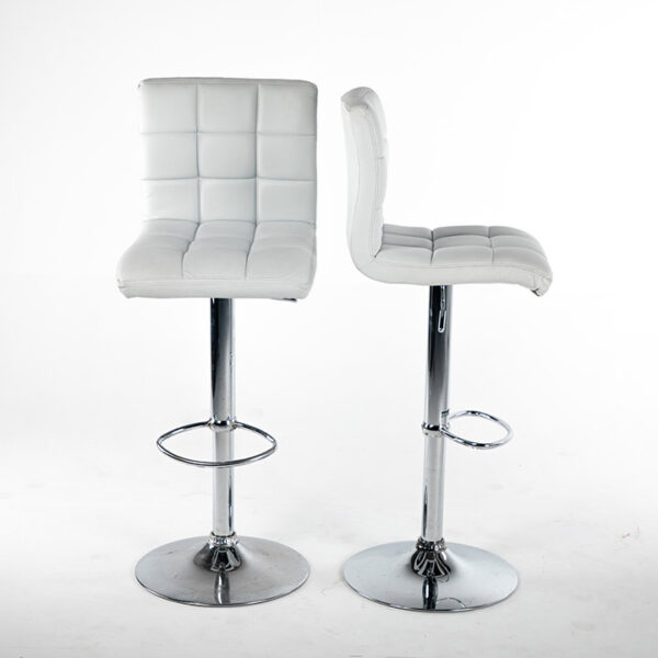 TB008BC tabouret turin simili cuir blanc double location