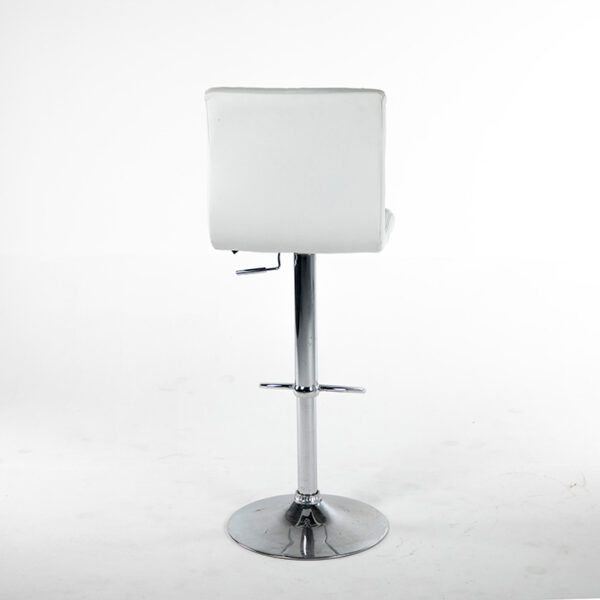 TB008BC tabouret turin simili cuir blanc arriere
