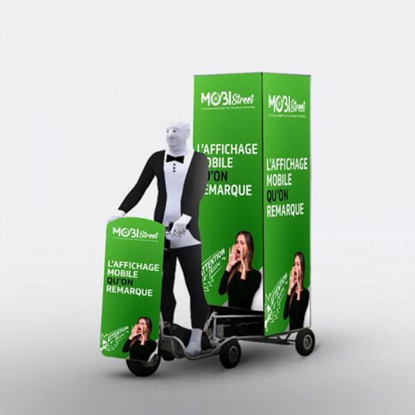 am003nr mobi cube totem publicitaire tire par une location