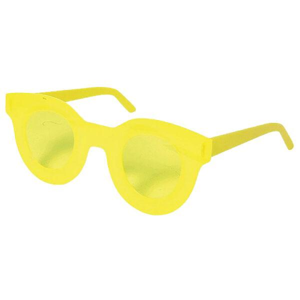 de004 lunettes de soleil acrylique jaune