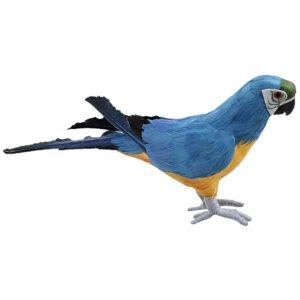 de006 perroquet deco bleu jaune