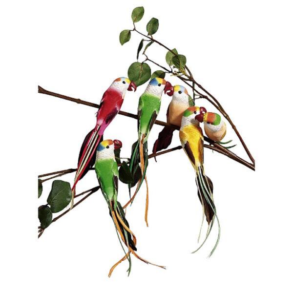 de013 perroquet deco rouge vert jaune location