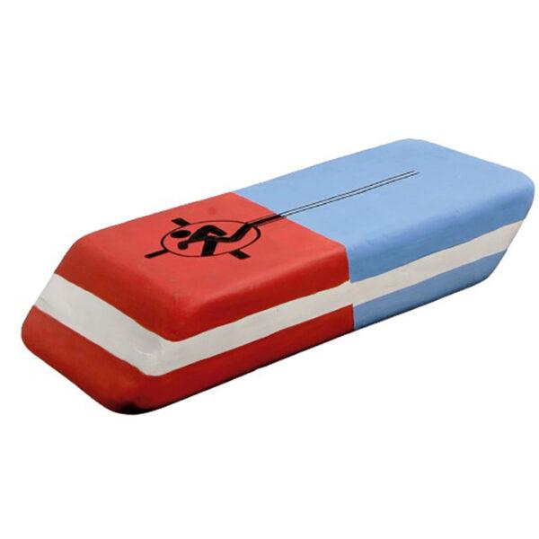 de021 gomme deco rouge bleu blanc location