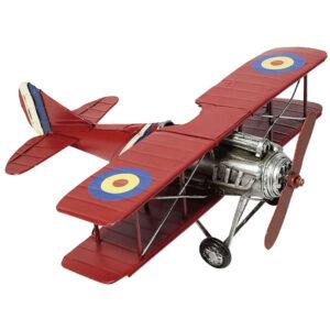 de026 biplan miniature rouge