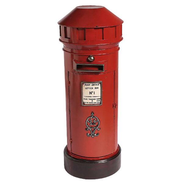 de027 boite aux lettres londonienne rouge noire
