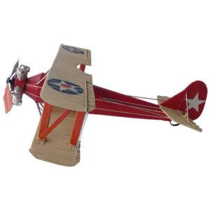de045 biplan miniature rouge