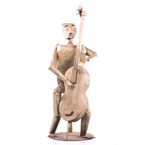 de092 sculpture violoniste design face